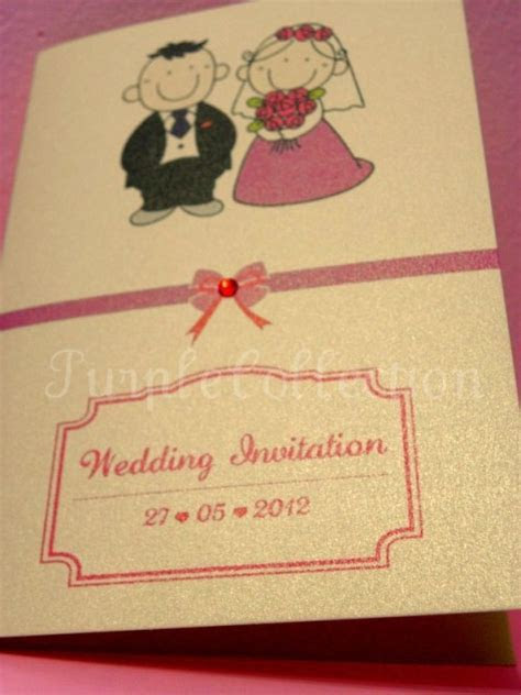 Cartoon Couple Wedding Invitation Card