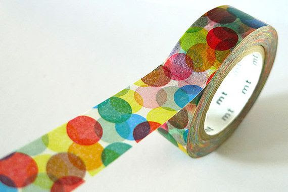 Sky Blue Clouds and Hearts Washi Tape Hearts on by PrettyTape