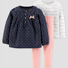 Toddler Girls' Elephant 3PC Set - Just One You Made by Carter's White 5T, Girl's