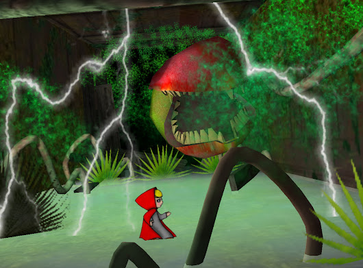 green house terror image - Little Red and Professor Wolf Game