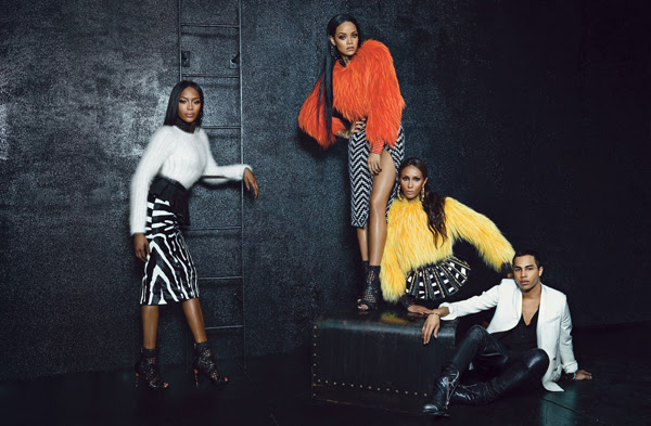 Rihanna, Iman and Naomi Campbell in Balmain for W Magazine - BellaNaija - August2014006
