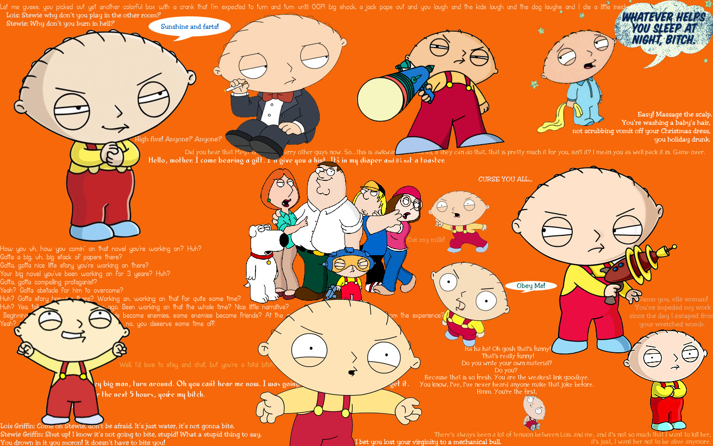 Stewie Wallpaper w quotes family guy 1440 900