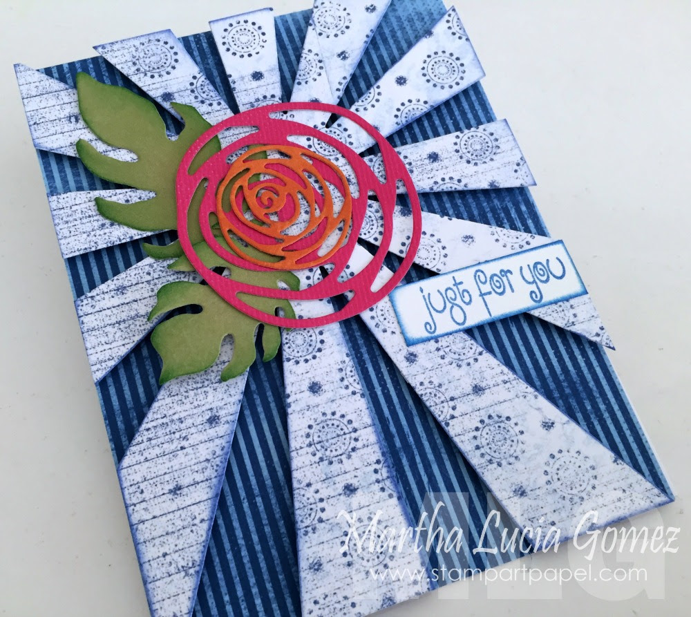 JUST FOR YOU BLUE CARD featuring Mulberry Collection by Quick Quotes designed by Martha Lucia