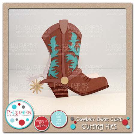 Cowboy Boot Card Cutting Files