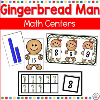 gingerbread man math centers kindergarten