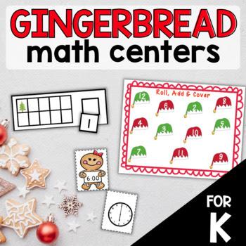 gingerbread man math centers kindergarten