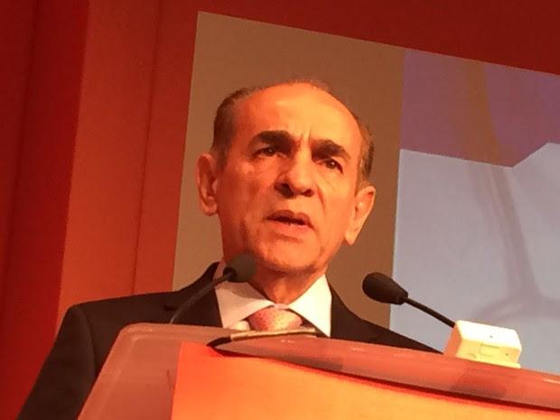 Ministro Marcelo Castro participa de encontro com empresários em São Paulo (Foto: Darlan Alvarenga/G1)