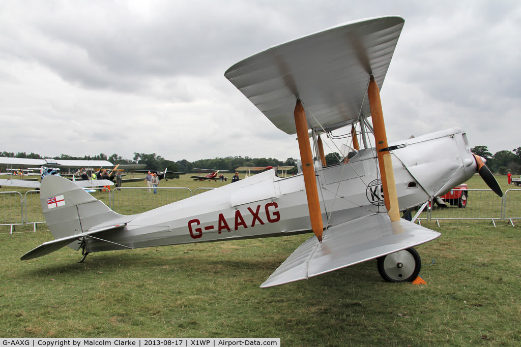 G-AAXG, 1930 De Havilland DH-60M Moth C/N 1542, De Havilland DH-82A Tiger Moth II at The De Havilland Moth Club's 28th International Moth Rally at Woburn Abbey. August 2013.