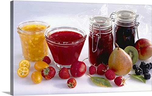 Fresh fruits with jams Gallery