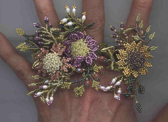 crafty jewelry: beaded flowers. | make handmade, crochet, craft
