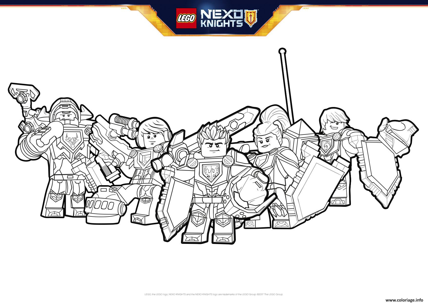 Coloriage Lego Nexo Knights Formation Boucliers Jecoloriecom