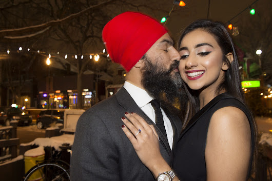 Federal NDP Leader Jagmeet Singh pops the question and Gurkiran Kaur Sidhu says yes! | Toronto Star