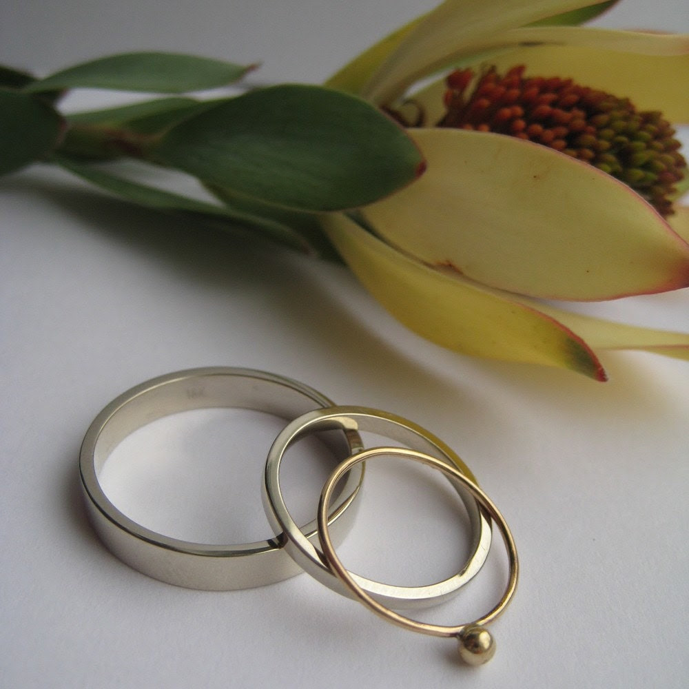 oh bliss perfect simple handmade wedding rings in white