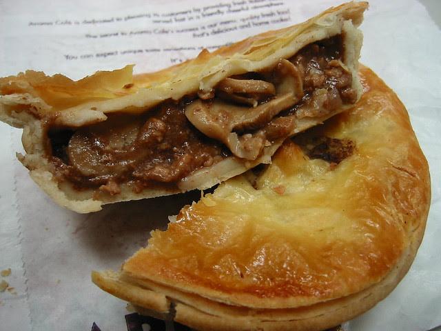 Steak and mushroom pie from Aroma (Innards)   Flickr ...