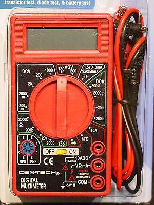 Cen-Tech 69096 Digital MultiMeter Electronic Volt Tester ...
