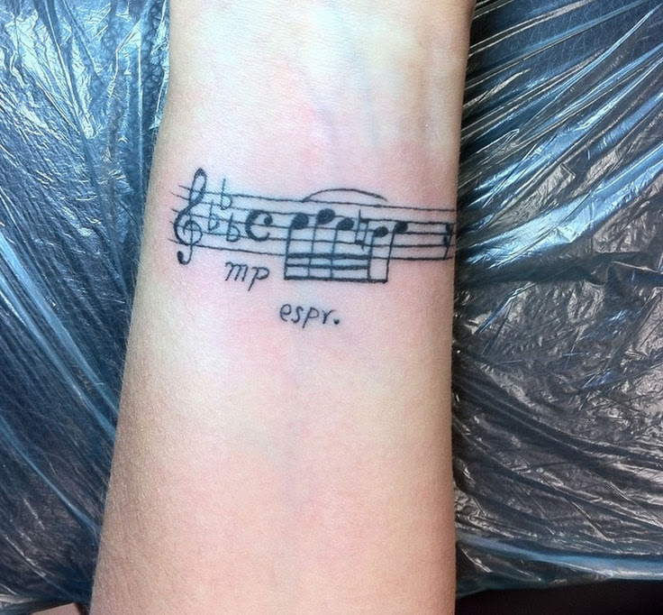 32 Beautiful Music Note Tattoos Designbump