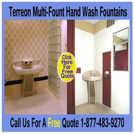 Commercial Restroom Wash Fountains For Everyday Use For Sale | XPB Offers Lockers, Restroom Partitions, Sinks, Accessories & More - 877-483-9270