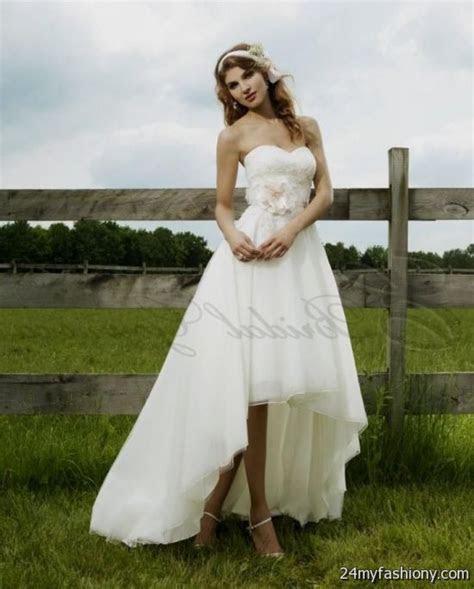 high low wedding dresses with cowboy boots looks   B2B Fashion