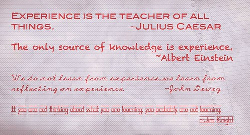 Experiencing, Learning, Reflecting