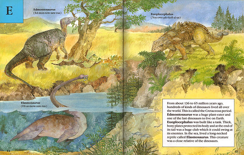 Edmontosaurus, Elasmosaurus, & Edmontonia