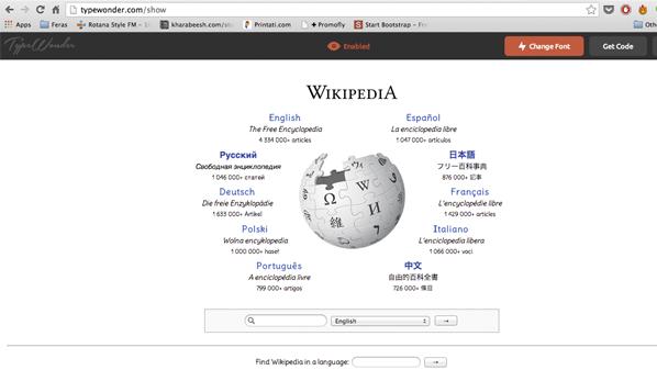 يسمح للمستخدم بتغيير خط أي موقع دون الحاجة لأي إضافات أو أدوات.
