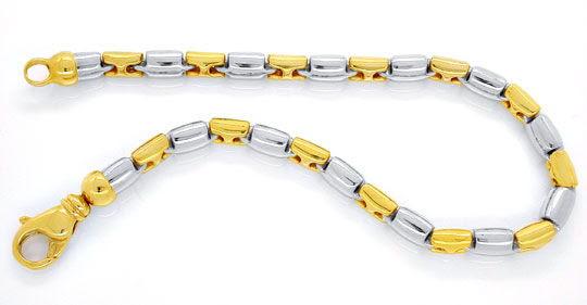 Foto 1, Designer-Armband Gelbgold Weissgold 18K/750 Luxus! Neu!, K2928