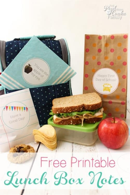 Printable Lunch Box Notes by The Real Coake Family