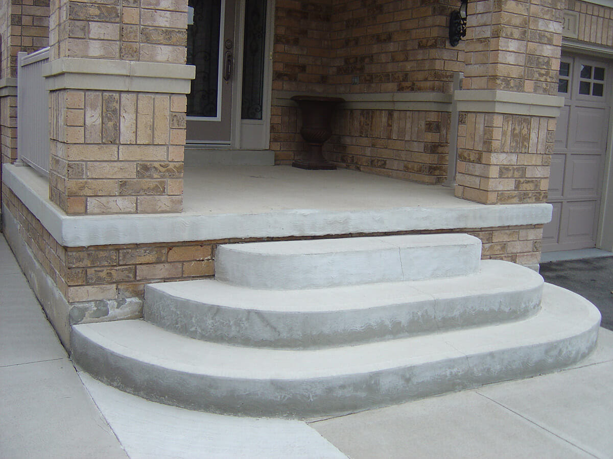 Porch Brick Front Steps Curved