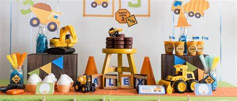 Kara's Party Ideas Construction Themed Birthday Party