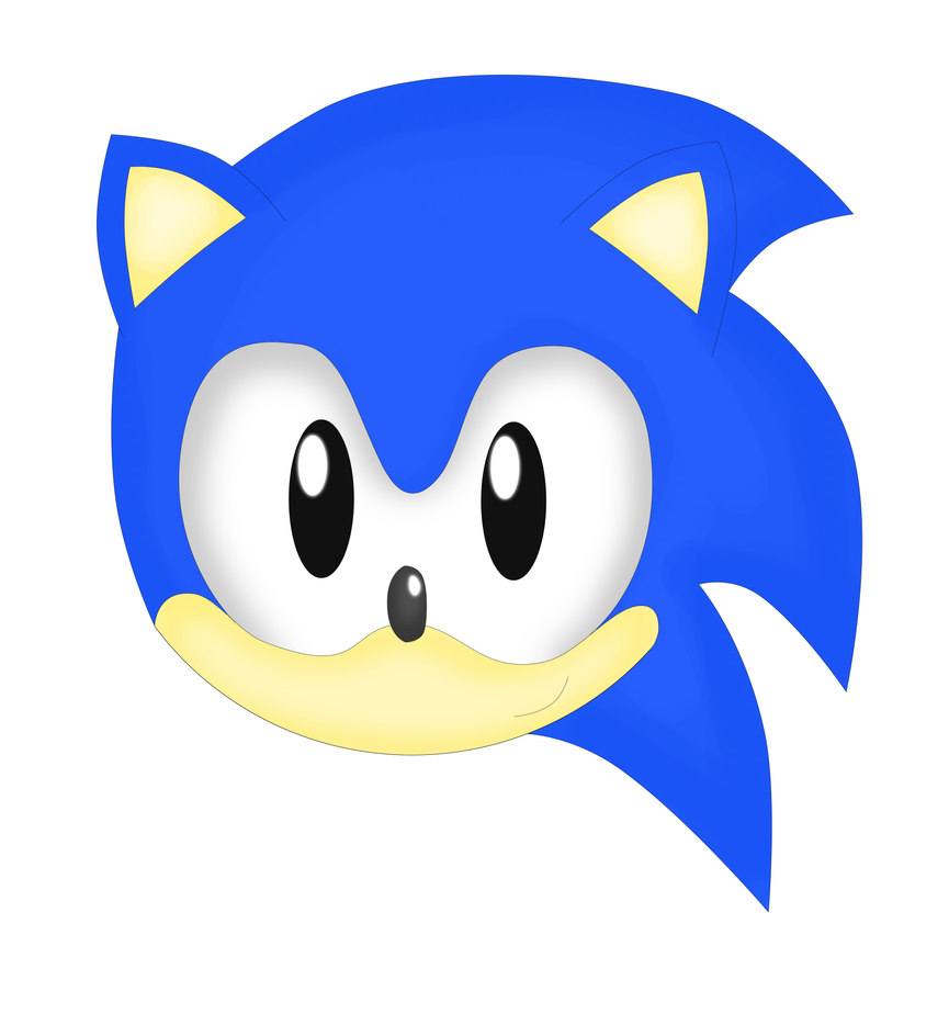 Sonic head by Supersonia on DeviantArt