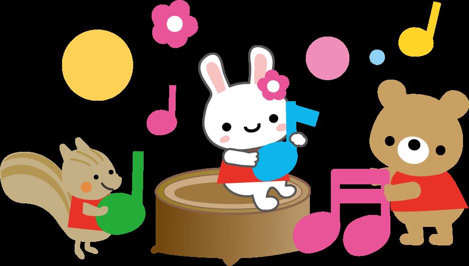 リトミックのイラスト音楽無料イラスト