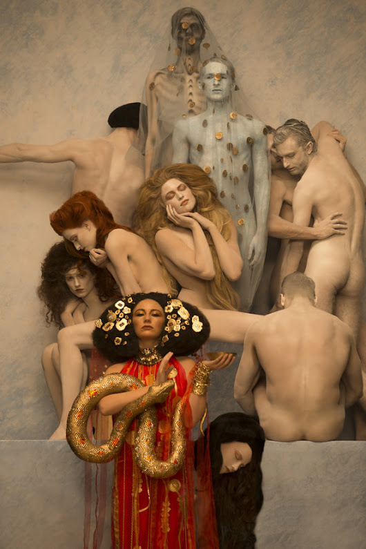Naked Models Bring Your Favorite Gustav Klimt Paintings to Life for Charity
