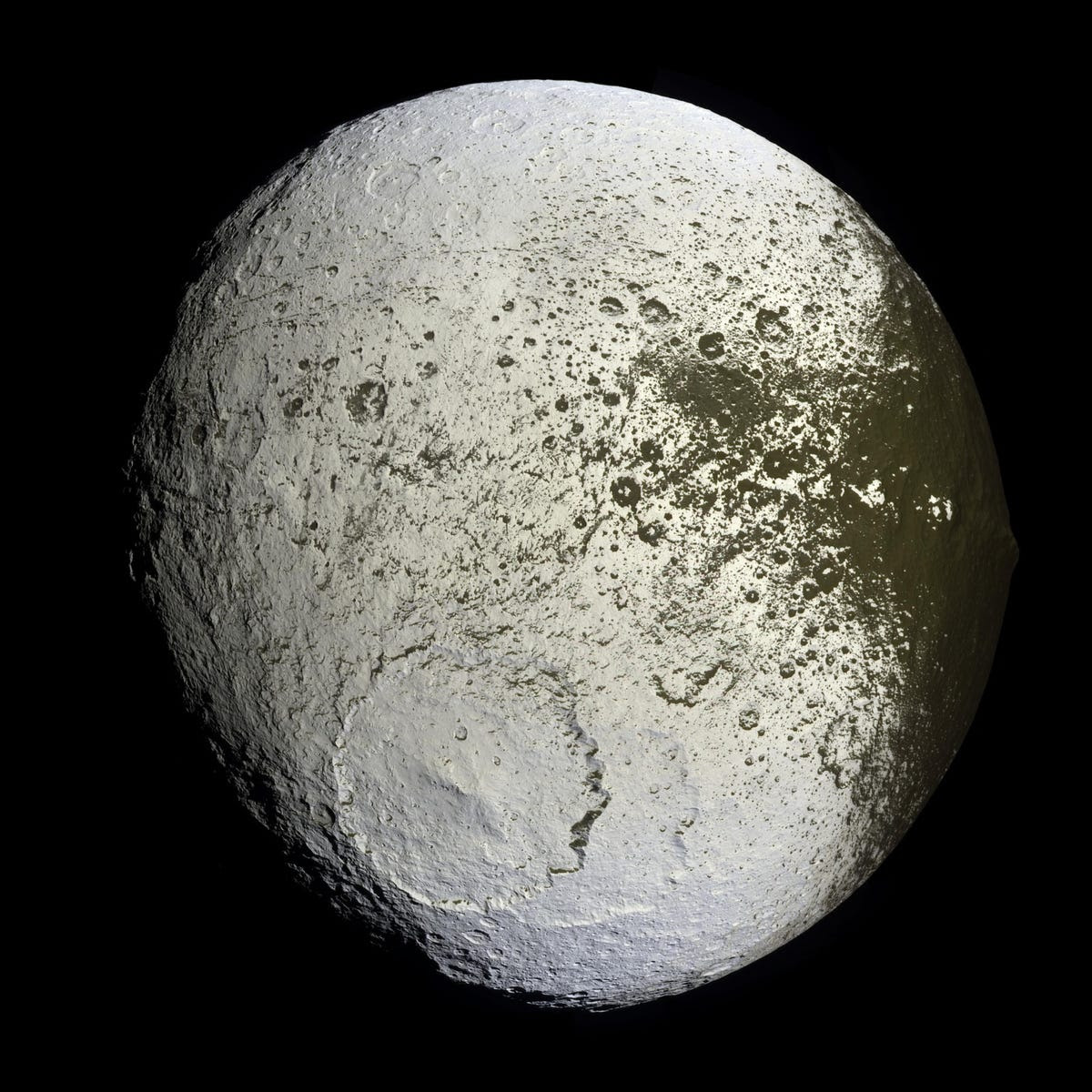 Cassini inventoried Saturn's other weird moons, too, including Iapetus...