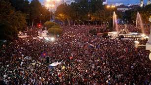 Ver vídeo  'Tercera convocatoria de la semana del 25S en Madrid'