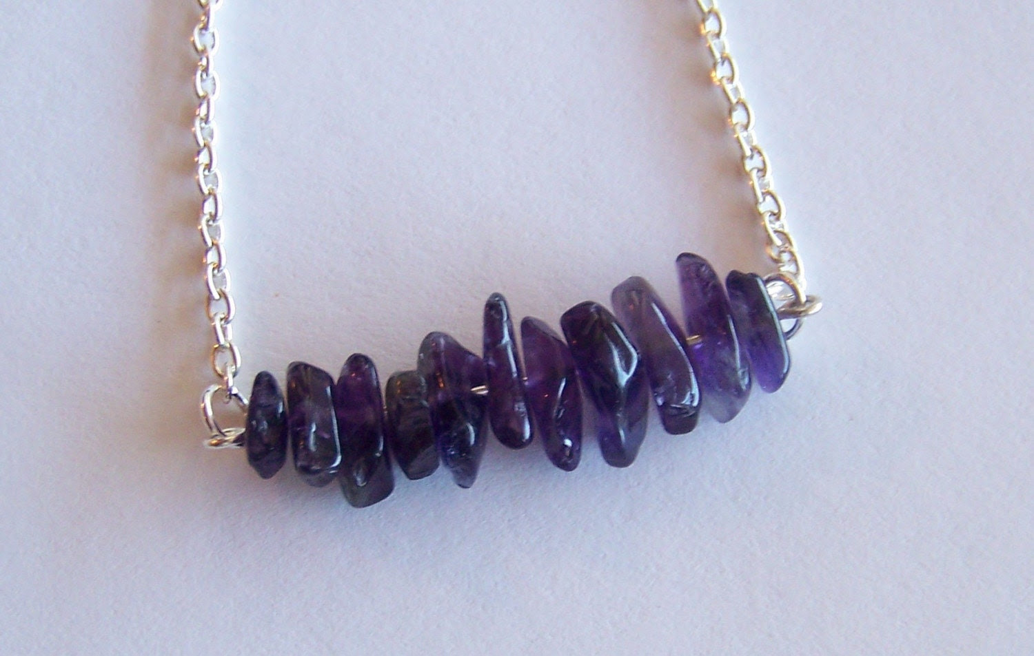 SALE - royal chip - a necklace of recycled jewelry