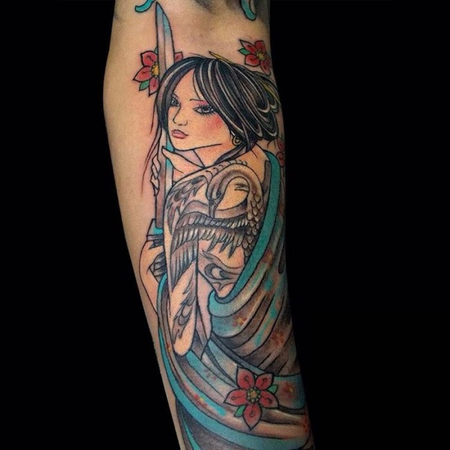 70 Colorful Japanese Geisha Tattoos Meanings And Designs 2019