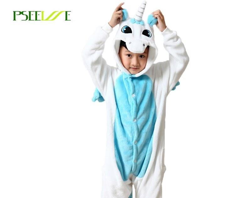 b95445c212e159 Tanie Dzieci Piżamy Ciepłe Piżama Jednorożca Dla Dziewczyn Chłopcy Cartoon  Bielizna Nocna Dziecko Zwierząt Cosplay Costume Onesie Ceny ~  liezl-menyesita