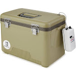 Engel 13 Quart Insulated Live Bait Fishing Outdoor Cooler With Water Pump, Tan by VM Express