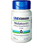 Life Extension Melatonin 3 mg 6 Hour Timed Release 60 Tablets