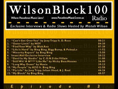 WilsonBlock100 Radio Show #3 ft. D. Rose + C.O.N.S the Villain + Manie +...