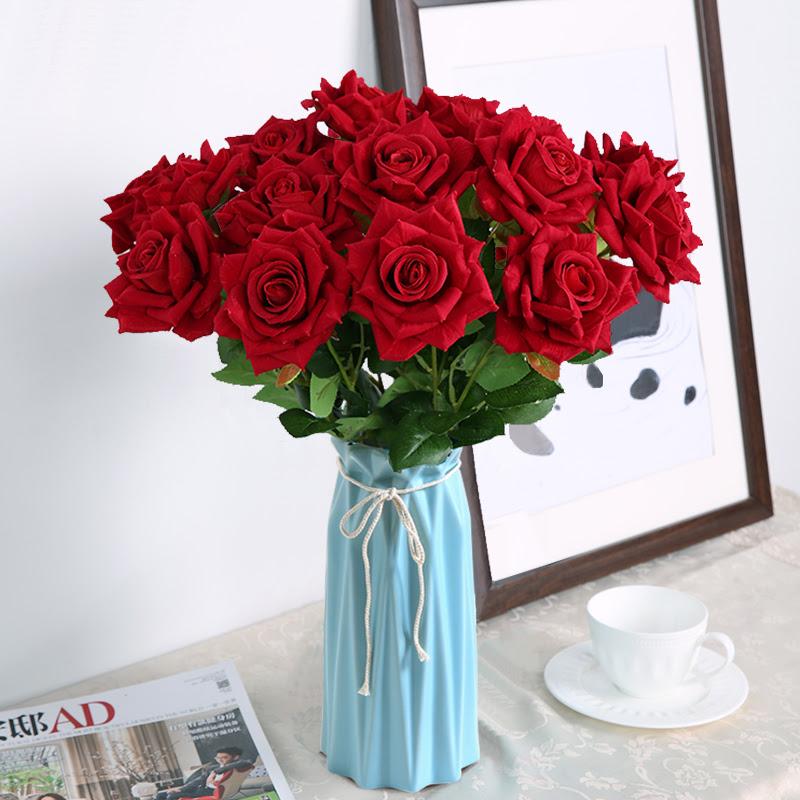 12 57 Modern Simple Ceramic Flower Arrangement Vase Simulation Rose Bundle Fake Flower Living Room Red Dry Flower Home Decoration Ornaments From Best Taobao Agent Taobao International International Ecommerce Newbecca Com