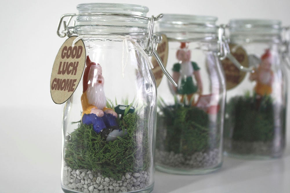 Good Luck Gnome Jar