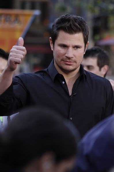 Nick Lachey Nick Lachey, who recently married Vanessa Minnillo at the Grove in Los Angeles.