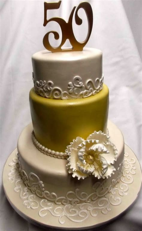 50th Wedding Anniversary Cake Ideas   Anniversary Cake