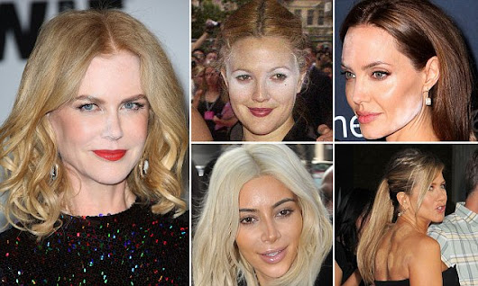 After Ms Kidman's make-up fail: The top celebrity cosmetic blunders