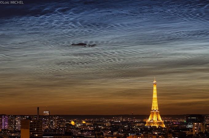 Nubes Noctilucentes sobre el cielo de Paris