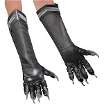 Rubie's Costume Black Panther Deluxe Costume Gloves