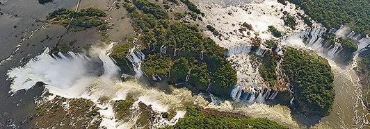 The Iguassu Falls, Argentina-Brazil • AirPano.com • 360 Degree Aerial Panorama • 3D Virtual Tours Around the World
