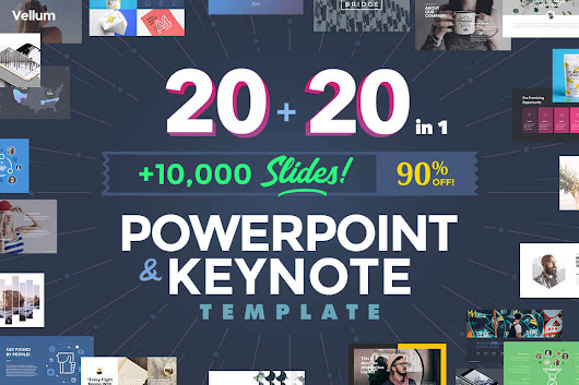 20 PowerPoint + 20 Keynote Templates (with 10,000+ Slides) - only $27!