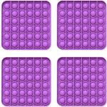 Fidget Pack Pop Pop – 2 pcs Pop Up Fidget Toys for Kids – Stress Relief Fidgets – Anti Stress Squeeze Toys (2 x Green) (Set: 4 x Purple)